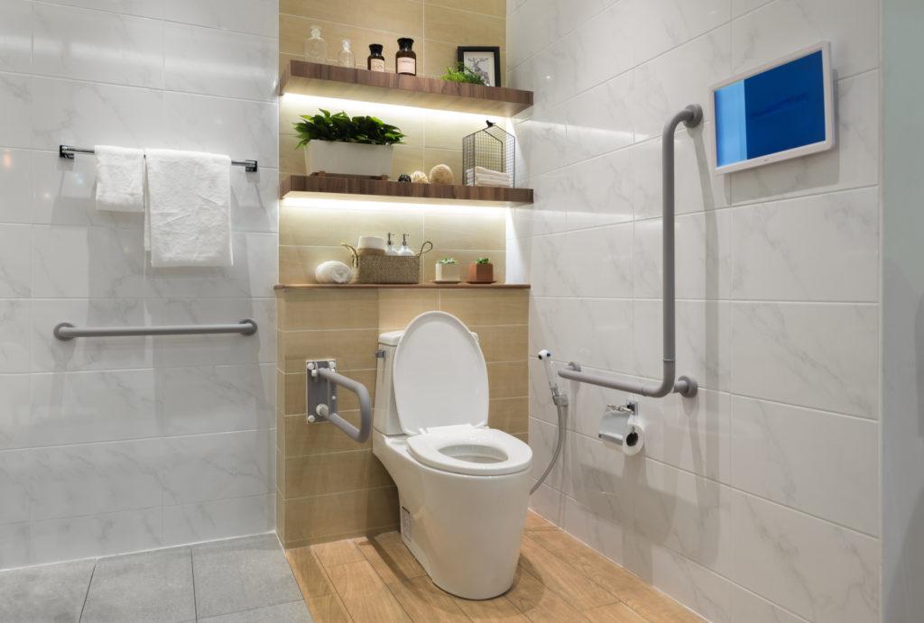 banheiro com proteção